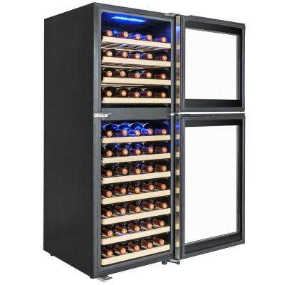 19.5 in. 73-Bottle Wine and 146-Can Compressor Beverage Cooler