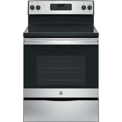 30 in. 5.3 cu. ft. Free-Standing Electric Range in Stainless