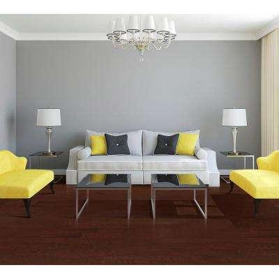 Oak Merlot 3/8 in. Thick x 4-3/4 in. Wide x Random Length Engineered Click Hardwood Flooring (924 sq. ft. / pallet)