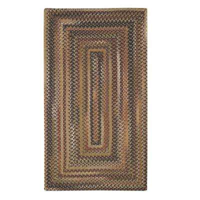 Applause Concentric Chestnut 4 ft. x 6 ft. Area Rug