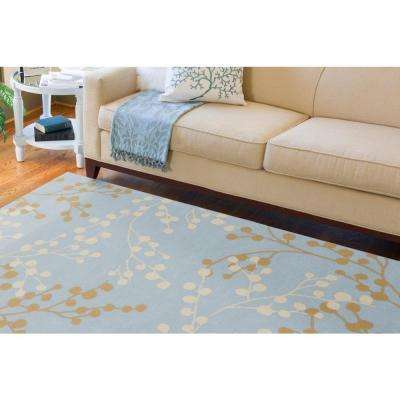 Blossoms Blue 9 ft. x 12 ft. Area Rug