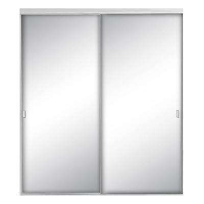 Style Lite Mirrored Satin Clear Aluminum Interior Sliding Door