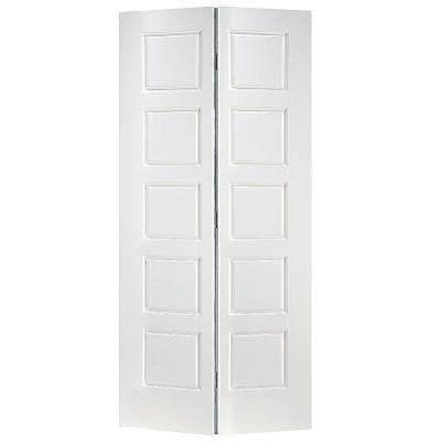 Riverside Smooth 10-Panel Hollow-Core Primed Composite Interior Closet Bi-fold Door