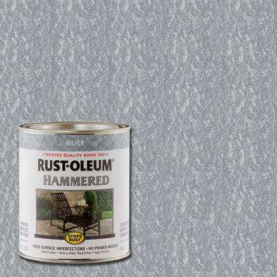 1-qt. Silver Hammered Rust Preventive Interior Paint (Case of 2)