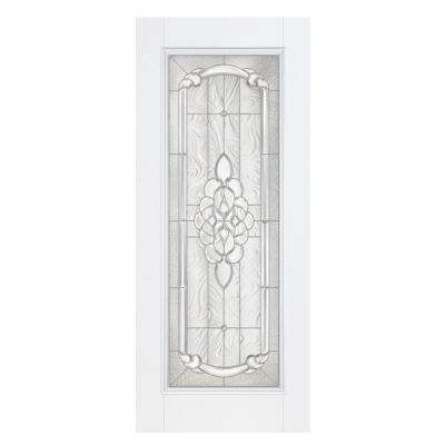 36 in. x 80 in. Oakville Full Lite Primed Steel Prehung Front Door with No Brickmold