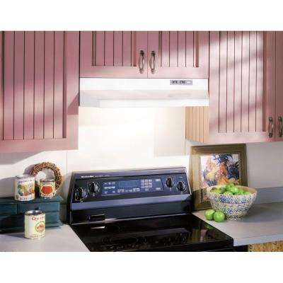 42000 Series 30 in. Under Cabinet Range Hood with Light in White