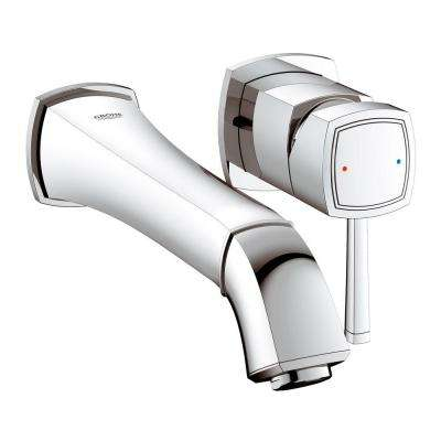 Grandera Single-Handle Wall-Mount Roman Tub Faucet in StarLight Chrome