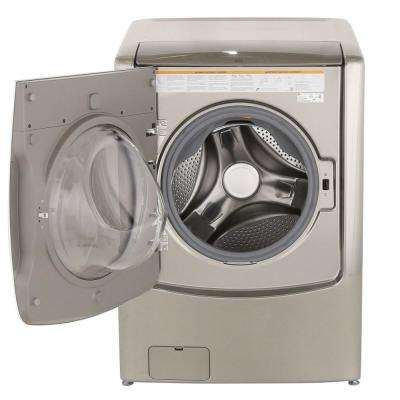 5.2 cu. ft. High-Efficiency Smart Front Load Washer with TurboWash and WiFi Enabled in Graphite Steel, ENERGY STAR