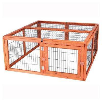 3.8 ft. x 3.6 ft. x 1.6 ft. Medium Outdoor Enclosure with Mesh Cover Run