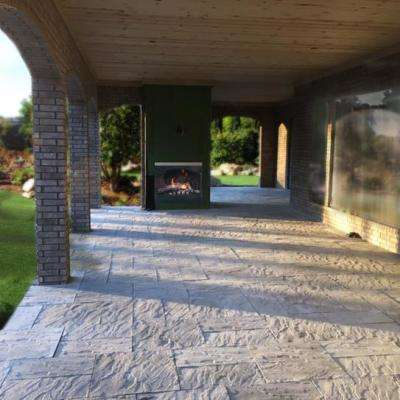Patio-on-a-Pallet 126 in. x 126 in. Concrete Gray Kingsmill Yorkstone Paver