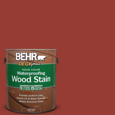 1 gal. #PPU2-17 Morocco Red Solid Color Waterproofing Wood Stain