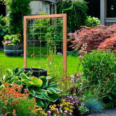 48 in. Wood Framed Hog Wire Trellis