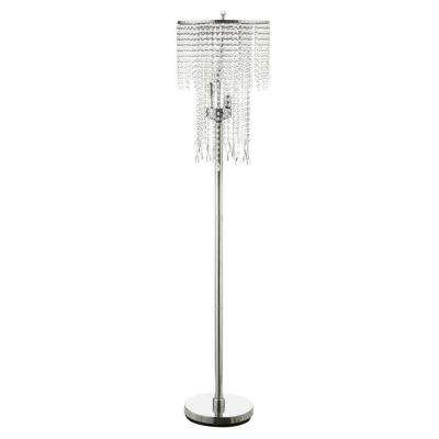 63 in. Chrome Floor Lamp-DISCONTINUED