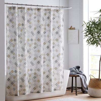 Silver Lining Organic Cotton Percale Shower Curtain