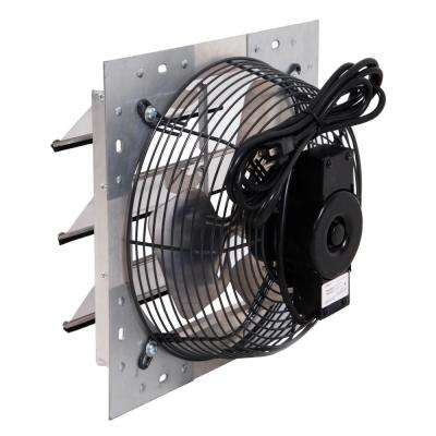 1100 CFM Silver Electric Powered Wall Mount Electric Attic Fan