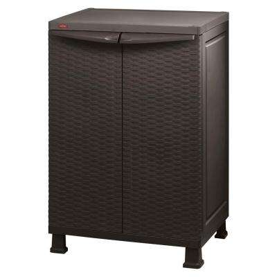 26 in. x 39 in. Freestanding Plastic Rattan Base Cabinet