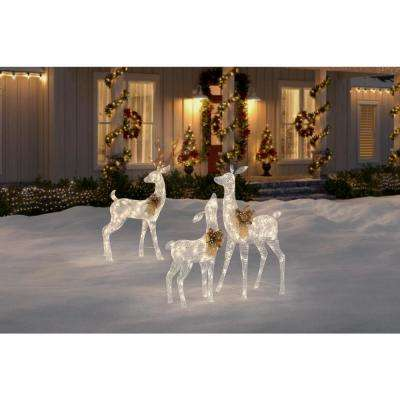 Sweet Serenity 63 in. 160-Light LED White PVC Deer