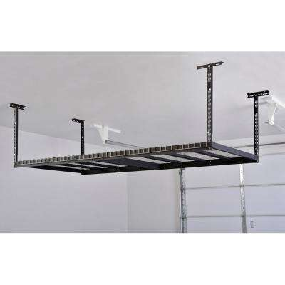 42 in. H x 96 in. W x 32 in. D Adjustable Height Ceiling Mount Garage Rack