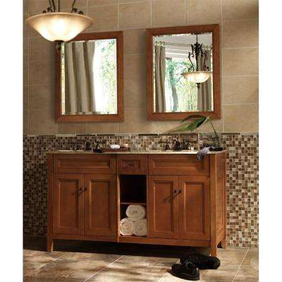 Exhibit 60 in. W x 34 in. H x 21-5/8 in. D Vanity Cabinet Only in Rich Cinnamon