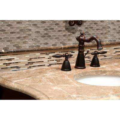 Champagne Estate 11.18 in. x 12.6 in. x 6 mm Glass Mesh-Mounted Mosaic Tile (14.7 sq. ft./case)