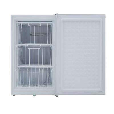 3.0 cu. ft. Upright Freezer in White