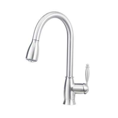Grace II Single-Handle Pull-Down Sprayer Kitchen Faucet in Satin Nickel