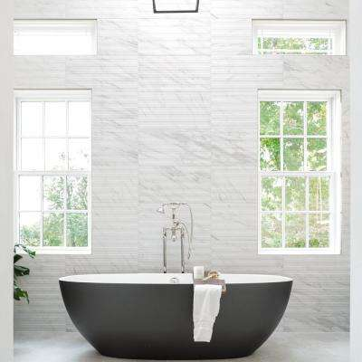 Eterno Carrara Line 12-7/8 in. x 25-5/8 in. Porcelain Wall Tile (11.79 sq. ft. / case)