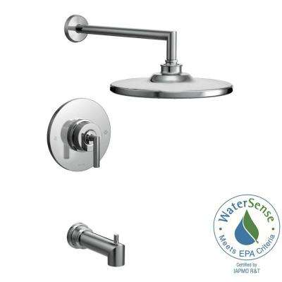 Arris Posi-Temp Single-Handle 1-Spray Eco-Performance Tub and Shower Faucet Trim Kit in Chrome (Valve Not Included)