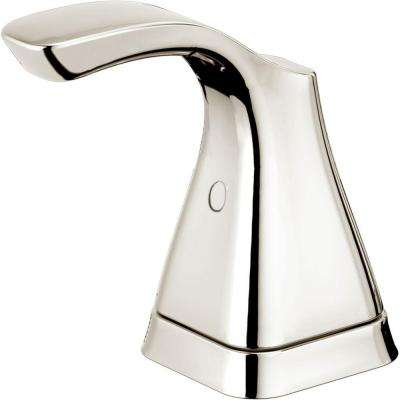 Tesla Pair of Lever Handles for Bathroom Faucets in Polished Nickel