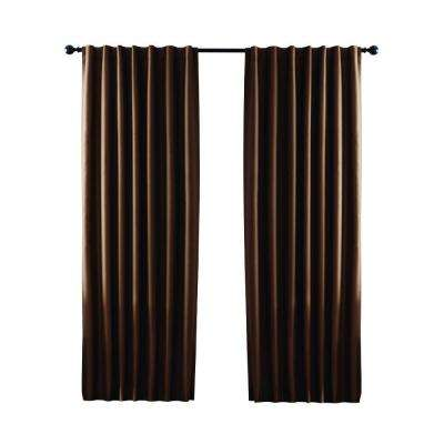 brown window curtains dark brown textured thermal back tab curtain brown curtains drapes window treatments the home depot