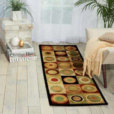 Parallels Multicolor 2 ft. x 4 ft. Area Rug