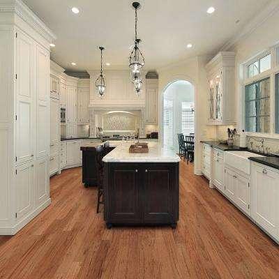 Lightly Brushed Oak Saddle 3/8 in. T x 5 in. W x Random Lengths Engineered Hardwood Flooring (24.5 sq. ft. / case)