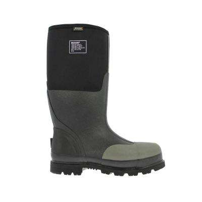 Forge Steel Toe Men 16 in. Black Waterproof Rubber with Neoprene Boot
