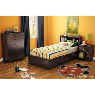 South Shore Zach 5-Drawer Chest in Chocolate Chest