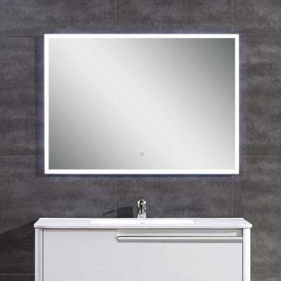 28 in. L x 39 in. W Single Wall LED Mirror in Chrome