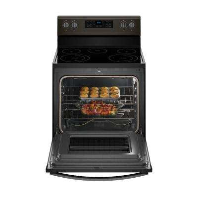 5.3 cu. ft. Electric Range with Self-Cleaning Oven in Fingerprint Resistant Black Stainless