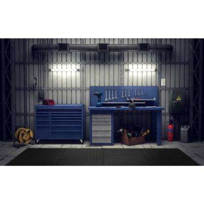 Black 24 in. x 24 in. x 0.47 in. Foam Garage Flooring Interlocking Mat (6-Pack)