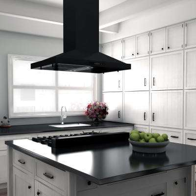 48 in. Ceramic-Gas Rangetop in Black Stainless with 7-Gas Burners