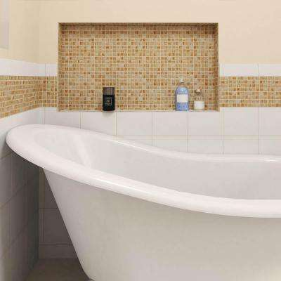 Coppa Tan Gold 12 in. x 12 in. x 4 mm Glass Mosaic Tile
