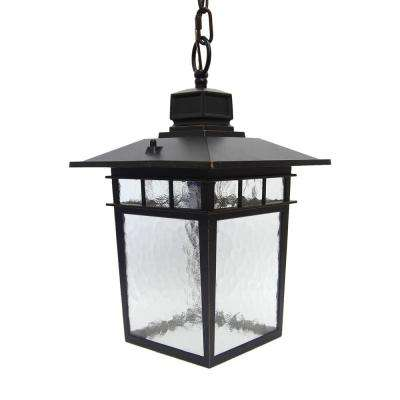 Cullen 1-Light Oil rubbed Bronze Outdoor Hanging Lantern