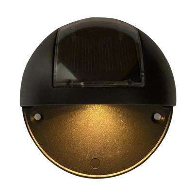 Solar Bronze Integrated LED Step and Stair Light (2-Pack)
