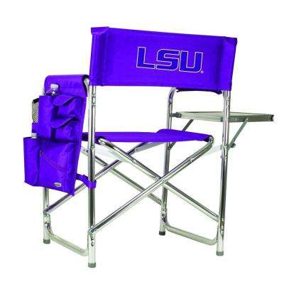 Louisiana State University Purple Sports Chair with Embroidered Logo