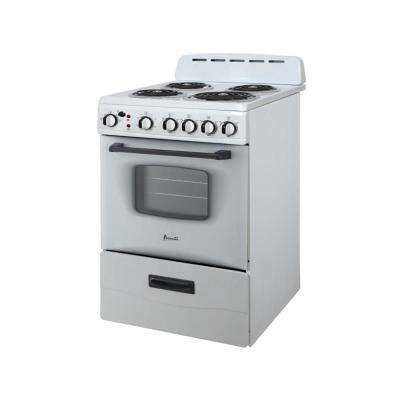 24 in. 2.6 cu. ft. Single Oven Electric Range in White