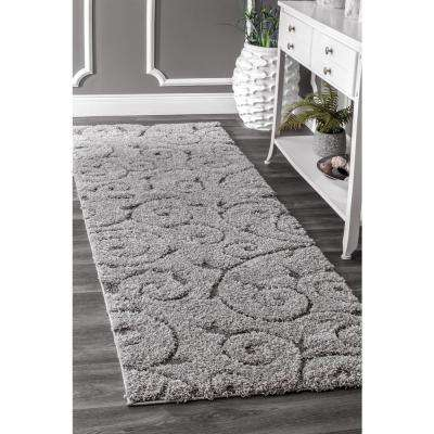 Maisha Dark Grey 2 ft. 8 in. x 8 ft. Runner Rug