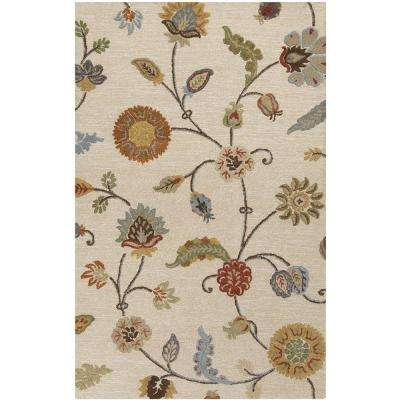 Tazetta Taupe 3 ft. 3 in. x 5 ft. 3 in. Indoor Area Rug