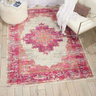 Passion Ivory/Fuchsia 5 ft. x 7 ft. Area Rug
