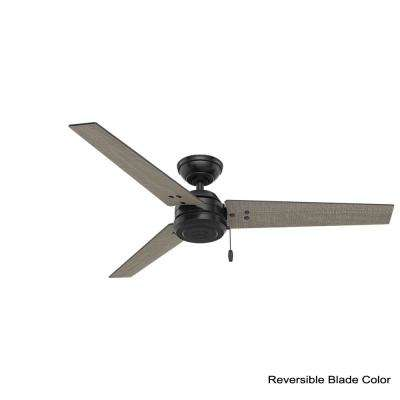 Cassius 52 in. Indoor/Outdoor Matte Black Ceiling Fan bundled with Handheld Remote Control