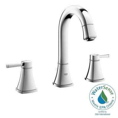 Grandera Deck Mount 2-Handle High Arc Bathroom Faucet in StarLight Chrome