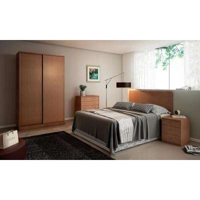 Chelsea 1.0 - 54.33 in. W Double Basic Maple Cream Armoire with 3-Drawers and 2-Sliding Doors
