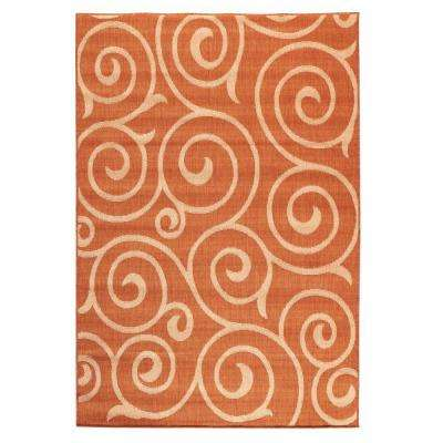 Whirl Terra/Natural 5 ft. 10 in. x 9 ft. 2 in. Area Rug